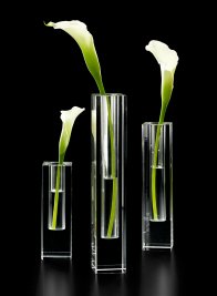 Square Glass Crystal Bud Vases