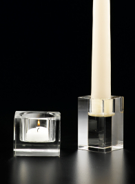 Square Crystal Candleholders