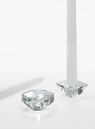 2 1/2in Octagon Crystal Taper Holder