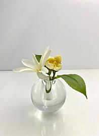 Small Crystal Ball Vase