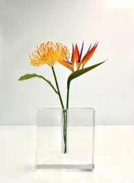 Space Modern Square Crystal Vase