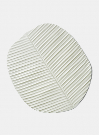 White Banana Leaf Placemat