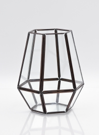 6 1/4in Tapered Hexagon Lantern