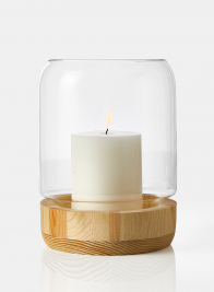 Wood Base Candle Hurricane