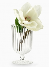 8in Optical Glass Urn Vase