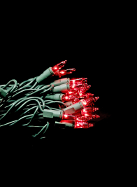 100 Red Green Wire Christmas Light Set