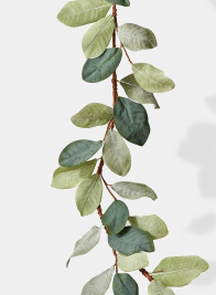 green magnolia leaf garland