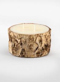 5 x 3in Birch Bark Pillar Candle