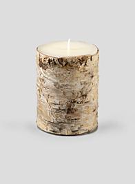 3 x 4in Birch Bark Pillar Candle