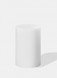 4 x 6in White Pillar Candle