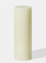 4 x 12in Ivory Pillar Candle