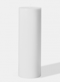 4 x 12in White Pillar Candle