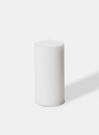 3 X 6in White Pillar Candle