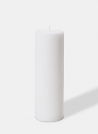3 X 9in White Pillar Candle