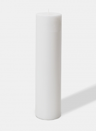 3 X 12in White Pillar Candle