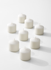 2x2in small white wax candle