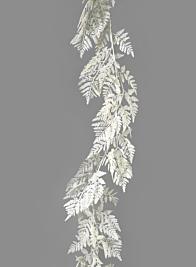 White Glitter & Sequin Fern Garland