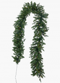9ft Mixed Pine Garland With 200 LED Lights