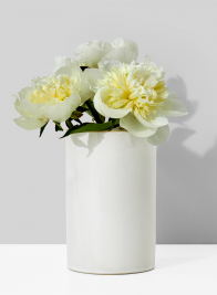 4 x 6 1/2in White Ceramic Vase