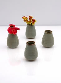 3in Ceramic potter's Bud Vase, Set of 2