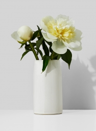 3 x 5 1/2in White Ceramic Potter's Vase