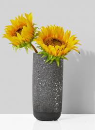 7in Black Terrazzo Vase