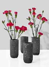 4 1/2in Black Terrazzo Bud Vase, Set of 4