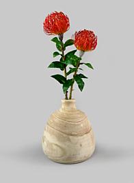 10in Paulownia Wood Bottle Vase