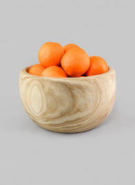 11in Deep Paulownia Wood Bowl