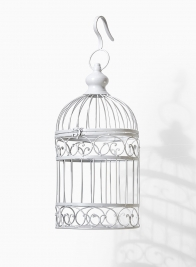small white vintage outdoor wedding birdcage