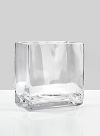4 3/4in Rectangle Glass Vase