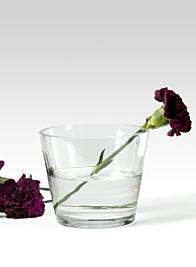 5 x 4 ¼in Tapered Glass Vase