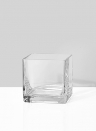 floral centerpiece square glass vase