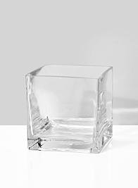 standard florist square glass vase