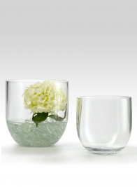8 x 8- & 6 x 6-inch Glass Vases With Tapered Bottoms