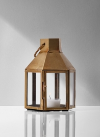 gold hexagon metal lantern