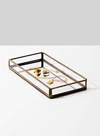retail jewelry display mirror bottom tray