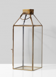 Large Square Gold Lantern