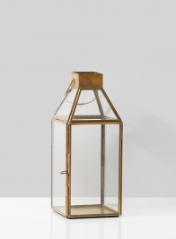 Small Square Gold Lantern