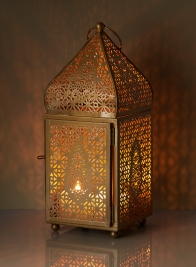 12in Gold Alhambra Square Lantern
