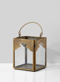 4in Antique Bronze Mumtaz Square Lantern