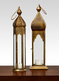 Antique Bronze Mahal & Taj Square Lantern