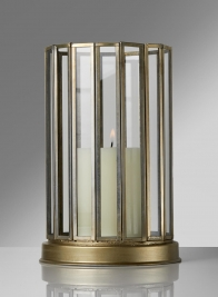 Silk Route Venetian 9 1/2in H 16-Gon Gold Lantern
