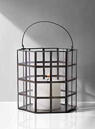 modern grid metal lantern home decor