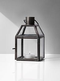 antique zinc mini metal lantern