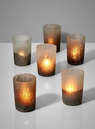 ombre frost glass votive holders