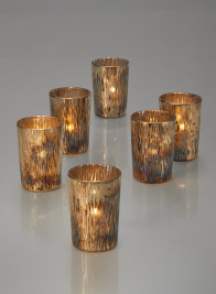3 1/4in Oxidized Glass Votive Holder, Set of 6