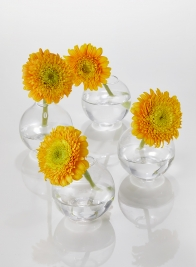 3in Ball Glass Bud Vase, Set of 4