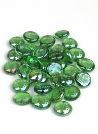 Light Green Lustre Glass Nuggets, 5lb Bag