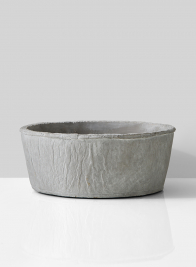 grey cement bowl for wedding event centerpieces